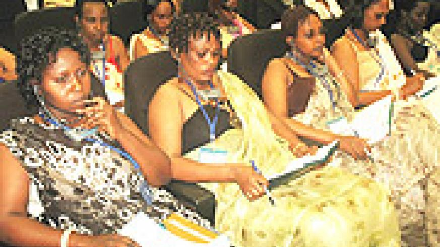 Rwandan Women during a recent IFC investments conference. (Photo / J. Mbanda)