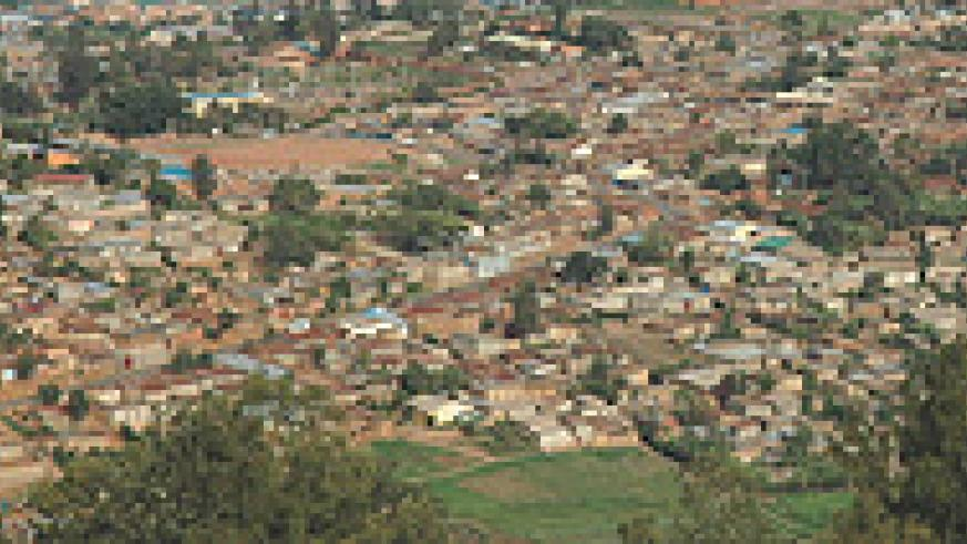 unplanned suburb in Kigali City.