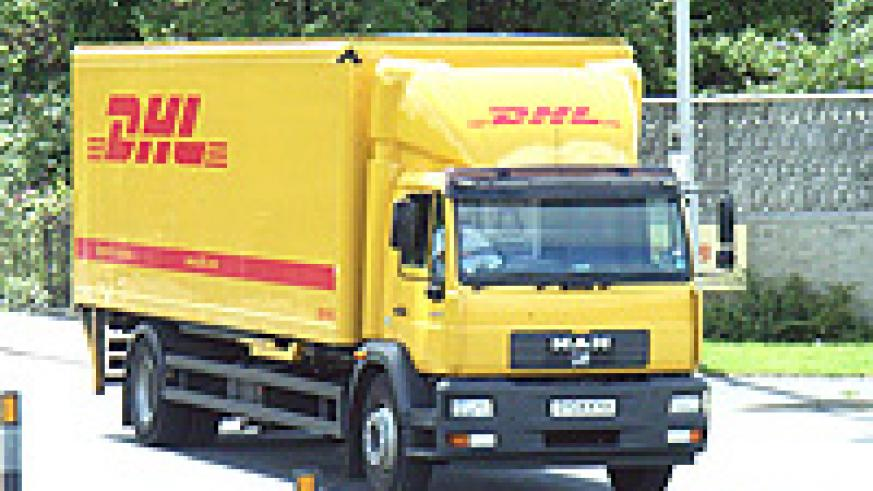 A DHL truck. (file photo).