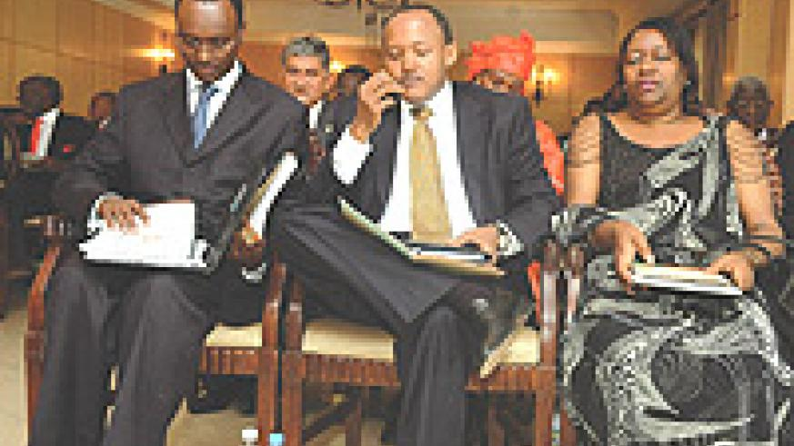 Rwanda's business leaders listen attentively during a recent meeting with the president. (File Photo).