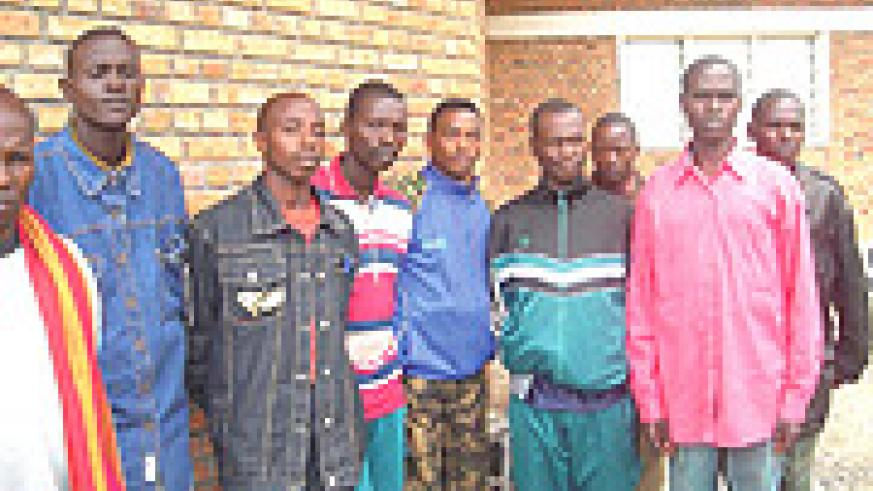 Some of the FDLR rebels who defected and were repatriated. They arrived at the Mutobo Demobilisation Centre on Monday. (Photo/ B Mukombozi).