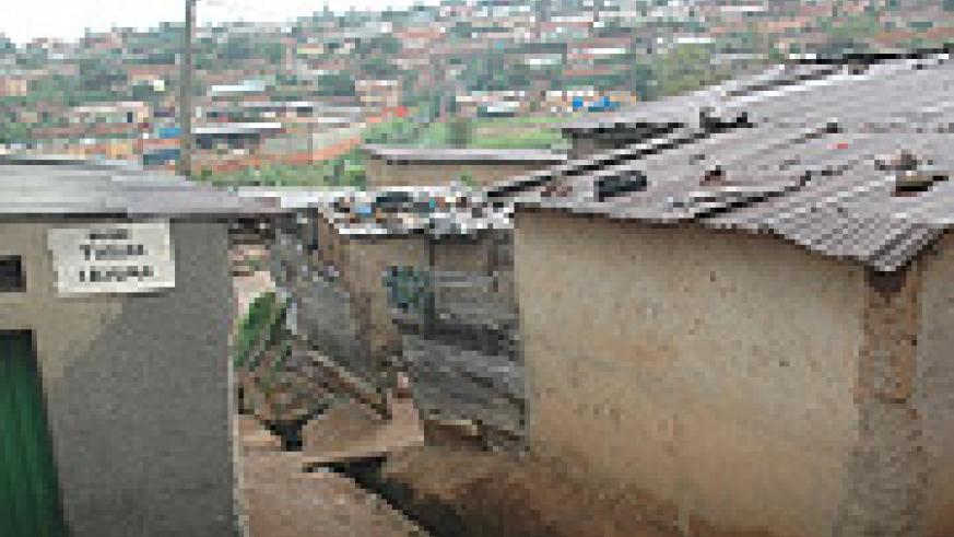 Some of the slums in Kimicanga area in Kigali City.