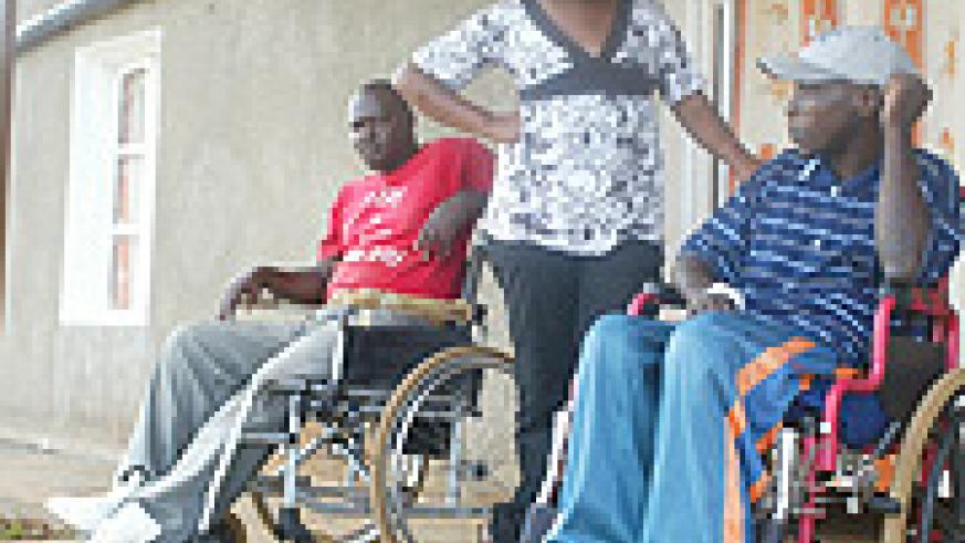 Some ex-combatants are confined to wheelchaires