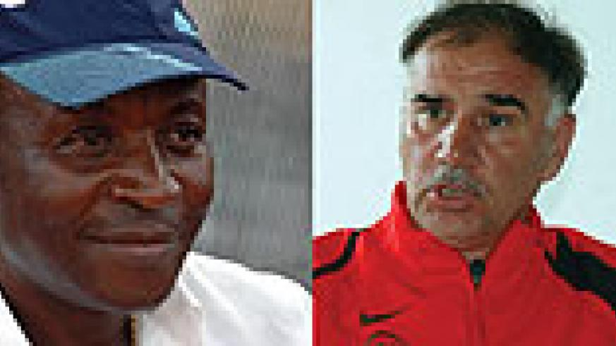 L-R: OUT: Raoul Shungu has confirmed hid intention to resign as Amavubi Stars assistant coach, HEAD COACH: Branko Tucak has had an unpleasant relationship with his assistant from day one.