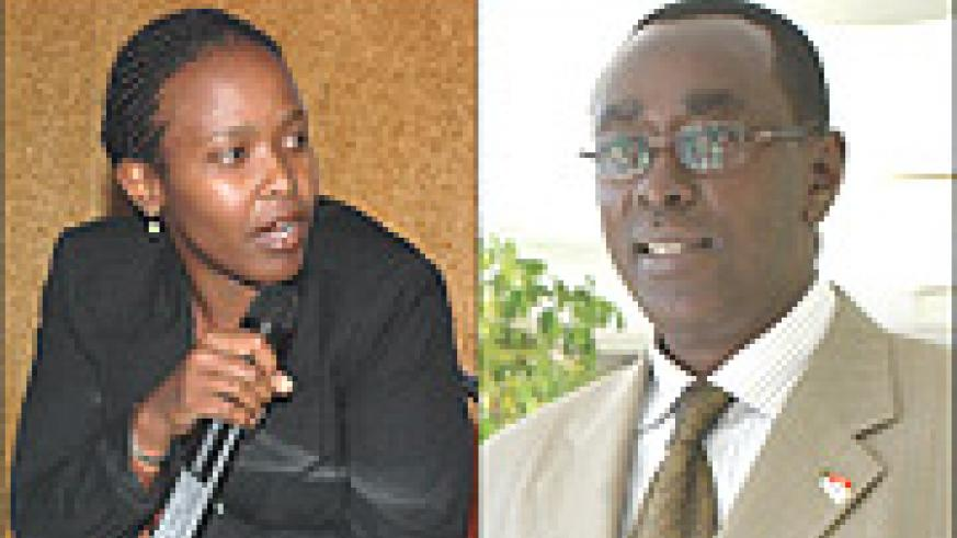 L-R: Claire Akamanzi. implementing new policy, Prime Minister Bernard Makuza. Gave instructions.