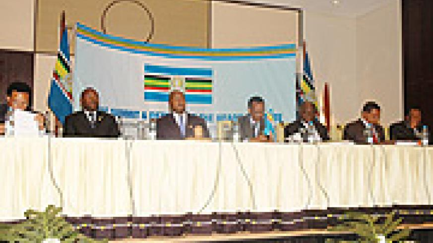 EAC Heads of State attending the summit last year in Kigali. (File Photo).