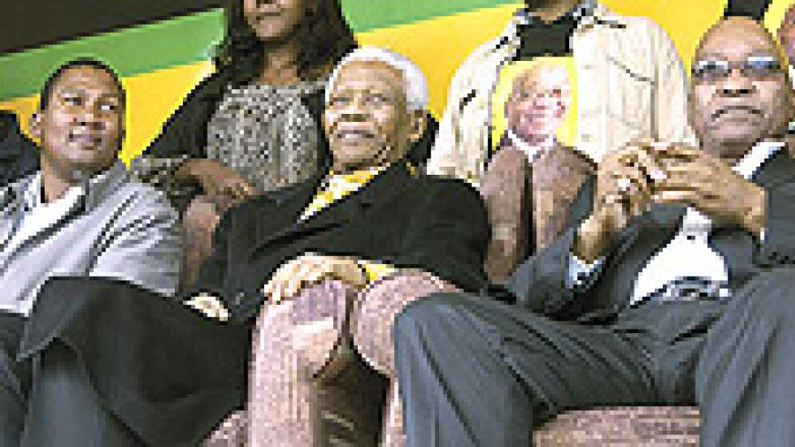 ANC president Jacob Zuma (right) with former president Nelson Mandela (centre) and his grandson Mandla Mandela at a past electoral rally in the EasternCape.
