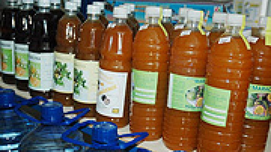 Some of the fruit juice products that will benefit from the plant. (File Photo)