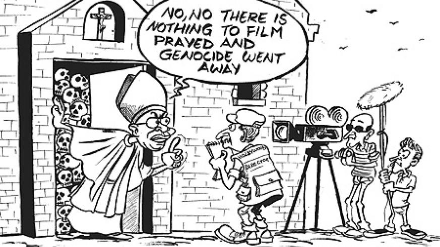 The Archbishop of Kigali, Thaddée Ntihinyurwa, is said to have prevented a film crew from shooting scenes inside the infamous Ste. Famille church where many people were killed during the 1994 Genocide against the Tutsi. He allegedly said that the church w