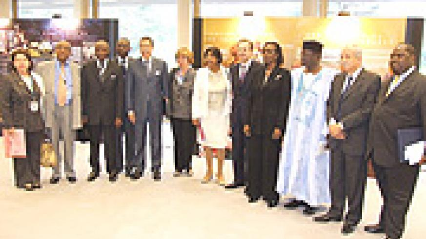 Some of the  Ambassadors who attended the 15th commemoration of the Genocide, with Rwanda's Ambassador Venetia Sebudandi.