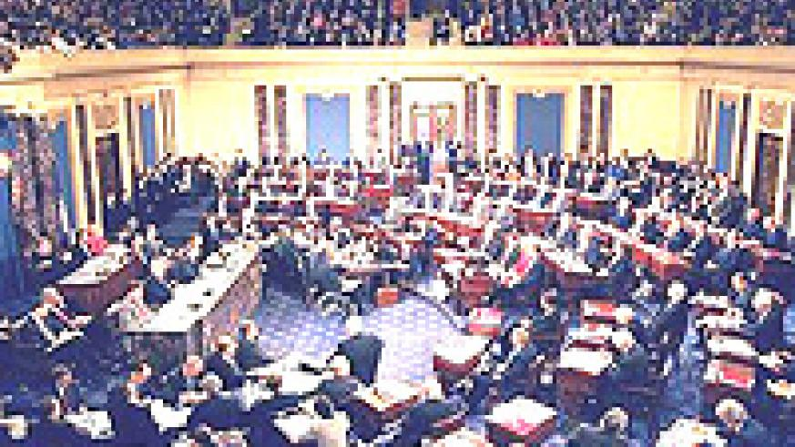 The United States Senate in session. Pres. Obama will face challenges from his Democrat collegues.