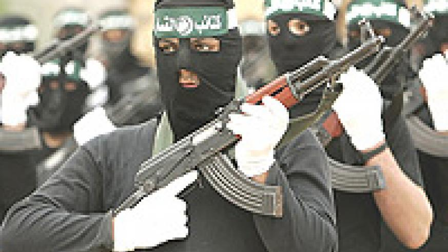 Hamas fighters. Israel and the Obama administration have to deal with organisation.