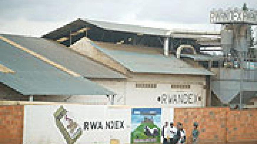 TO GO UNDER THE HAMMER: Rwandex coffee factory will today be sold off to pay off creditors.