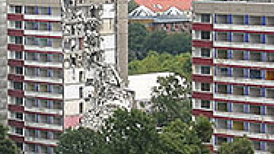 A dilapadated apartment in Dresden, Eastern Germany.