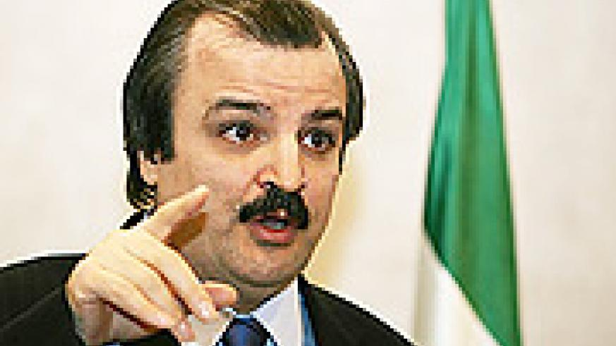 Mohammad Mohaddessin, chairman of foreign affairs for the National Council of Resistance of Iran, speaks in Paris during a press conference