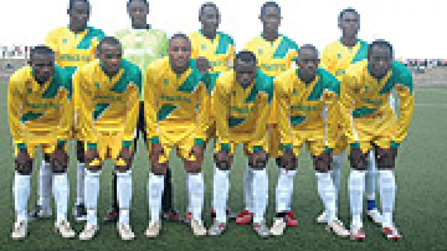 TOUGH TEST:  Atraco, the team that played against El Merriekh in the MTN Champions League return leg in Kigali. Only keeper Jean Luc Ndayishimiye (2nd from left on back row) did not travel to Sudan.