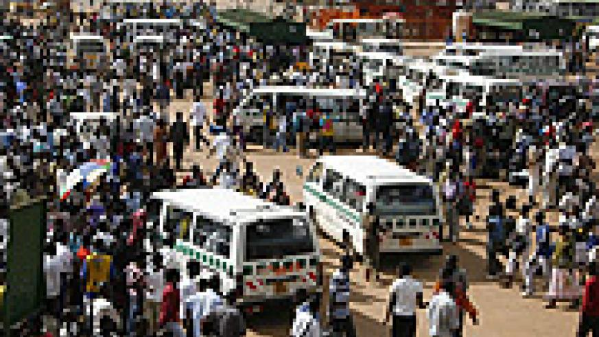 People might not be able to afford to ride these minibuses in the Nyabugogo bus park if prices increse drammatically