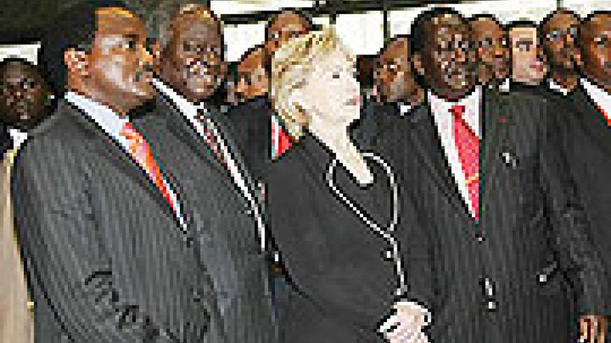 Hillary Clinton at the opening of the eighth Africa Growth Opportunity Act Conference in Nairobi on Wednesday, Aug. 5, 2009