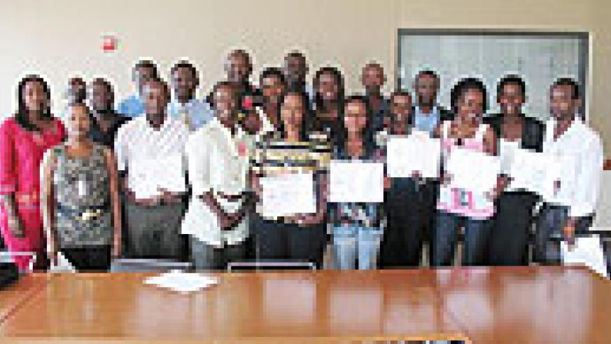 Journalists in a group photo upon completion of the course. (Courtsey Photo)