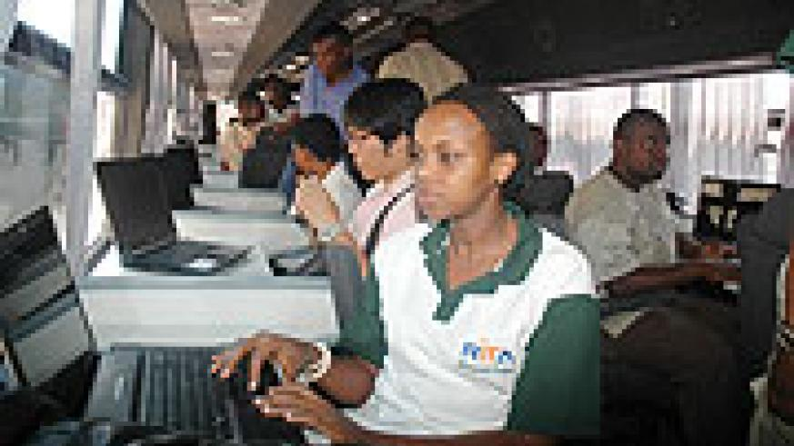 The IT buses are one channel to accessing internet in ruaral areas