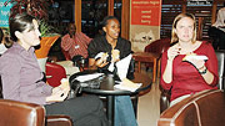 Revellers enjoying a cup of coffee at a Bourbon Coffee Shop (file Photo).