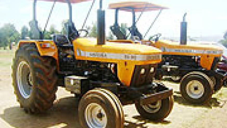 The  newly  acquired South African made tractors by Kihere district.Photo S Rwembeho