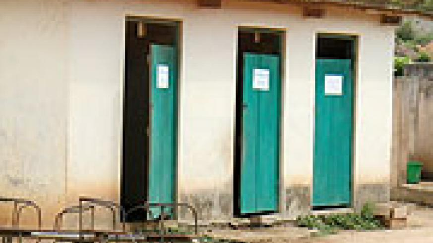 A rundown public toilet. There is an acute lack of these in the Kigali Central Business District