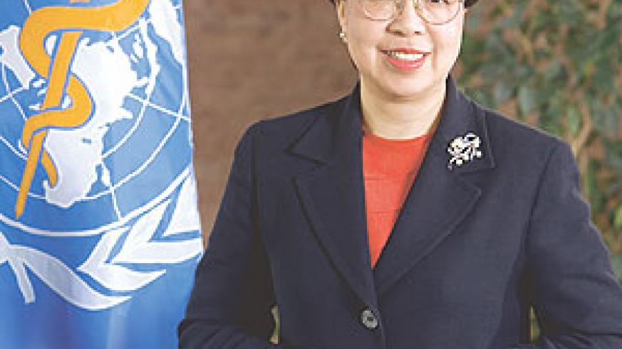 Dr Margaret Chan the Executive Director of  the World Health Organisation.