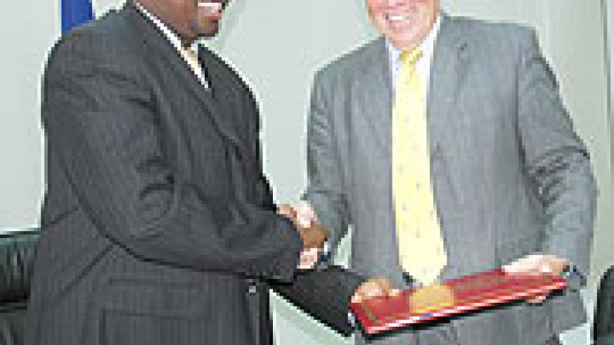 Minister of Finance, James Musoni and McRae