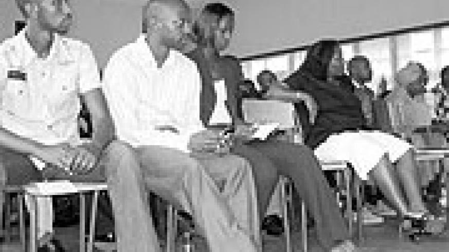 PSF Director, David Rutambuka, with other participants during the training session.
