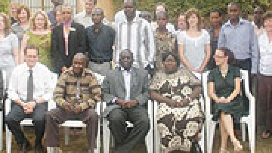 The new volunteers in a group photograph with country leaders of VSO (Courtsey Photo)