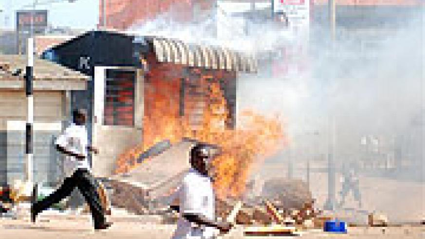 An image of the Kampala riots. Kingdoms might end up being a force that undermines a nations unity