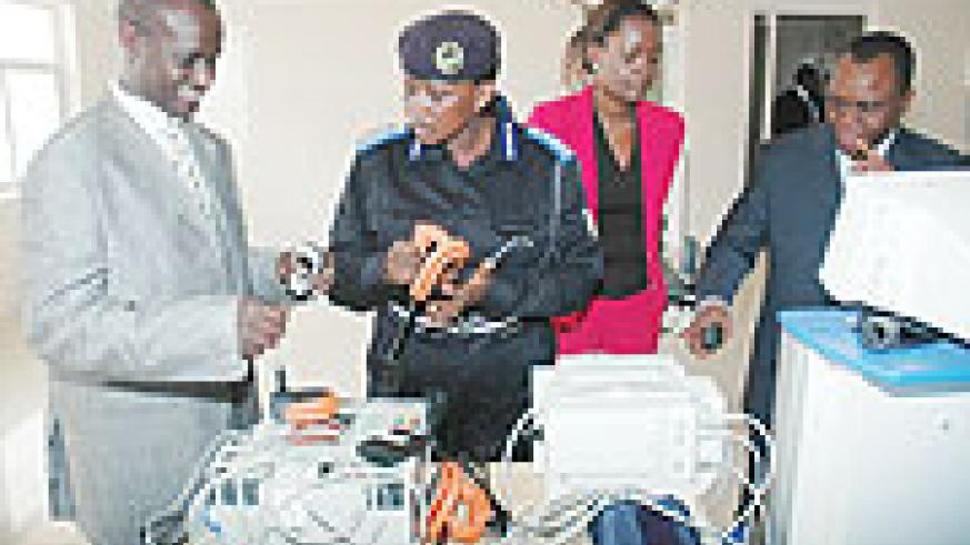 Mary Gahonzire looks at some of the equipment the GBV One Stop Centre in July.(File Photo)