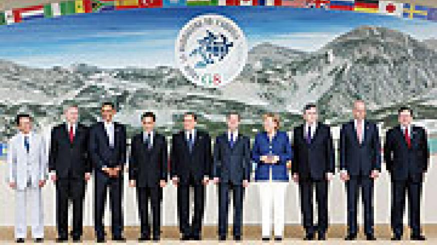 The old order. G8 leaders at the Aquila Summit.