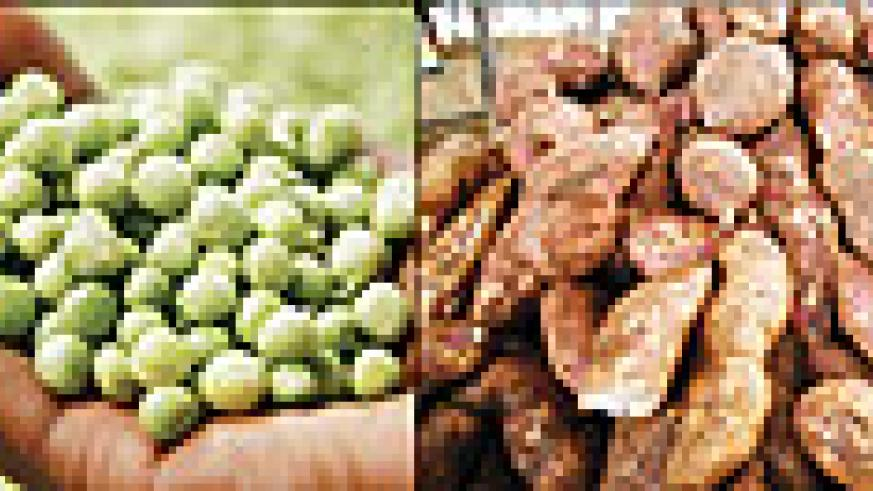 Some of Rwanda's agricultural produce. (File Photos)