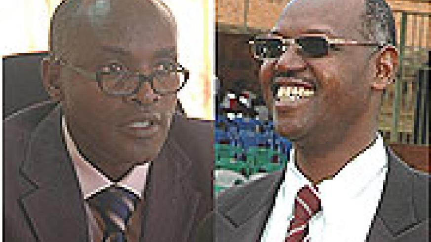 L-R: WE WANT JUSTICE: Spokesperson of NPPA Augustine Nkusi, IN THE COOLERS:  Mark Kabandana.