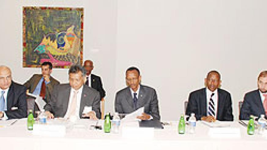 President Kagame attending the 2011 World Development Report Advisory Council  in Washington DC. He has accepted an invitation to become a member of the council. (Photo/ L. Gahima)
