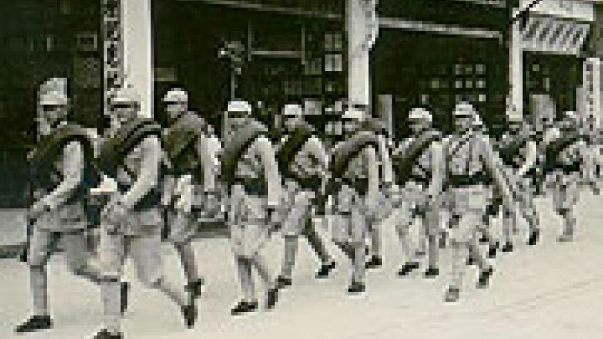 The Nationalist Forces on the march. They lost the Chinese Civil War and formed a government on the island of Taiwan