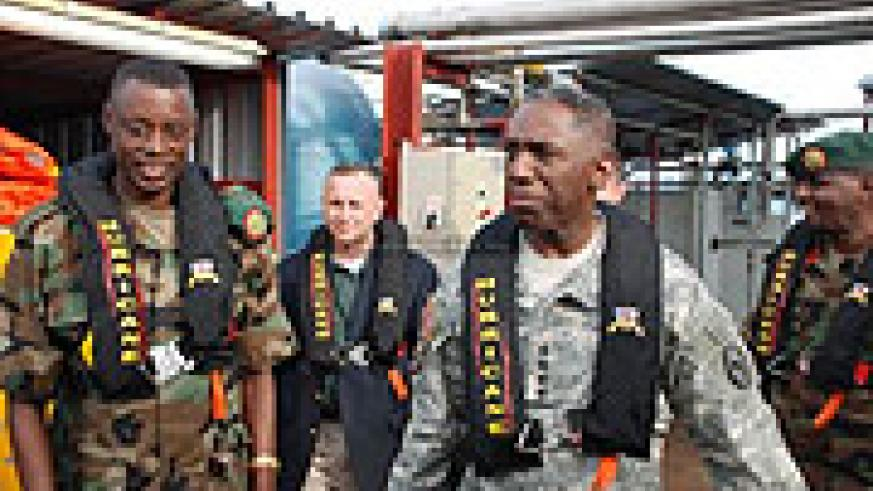 The Commander of US Africa Command [AFRICOM] Gen William E. Kip Ward visited Rwanda from 20 – 22 April 2009. While in Rwanda, Gen Ward met with the RDF Chief of Defence Staff [CDS] Gen James Kabarebe.
