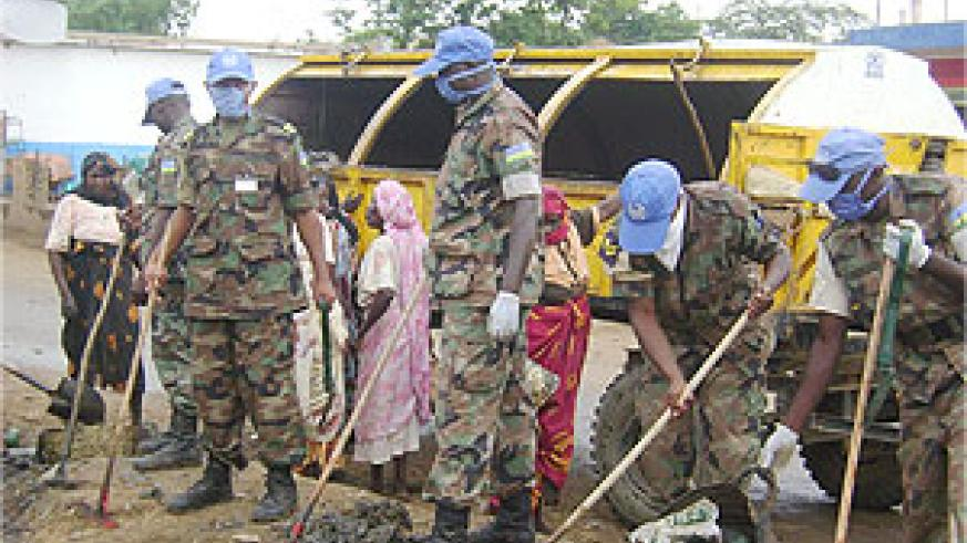 a section of the RDF soldiers cleaning up El Fasher town in Darfur region. (Photo/ RDF)