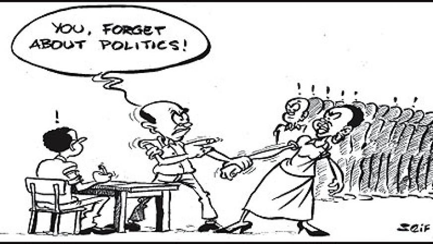 A man in Nyagatare removed his wife off the candidates line saying he didn't wish her to participate in politics.