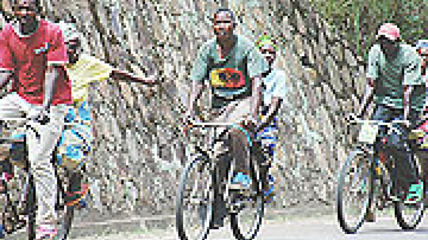 Bicycles are the main means of transport in rural areas. They carry goods, people and they make money.