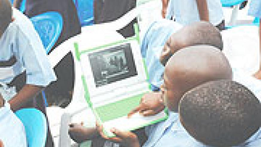 The 'One Laptop per Child' project is one of the projects boosted by the effective usage of ICT funds. (File Photo)