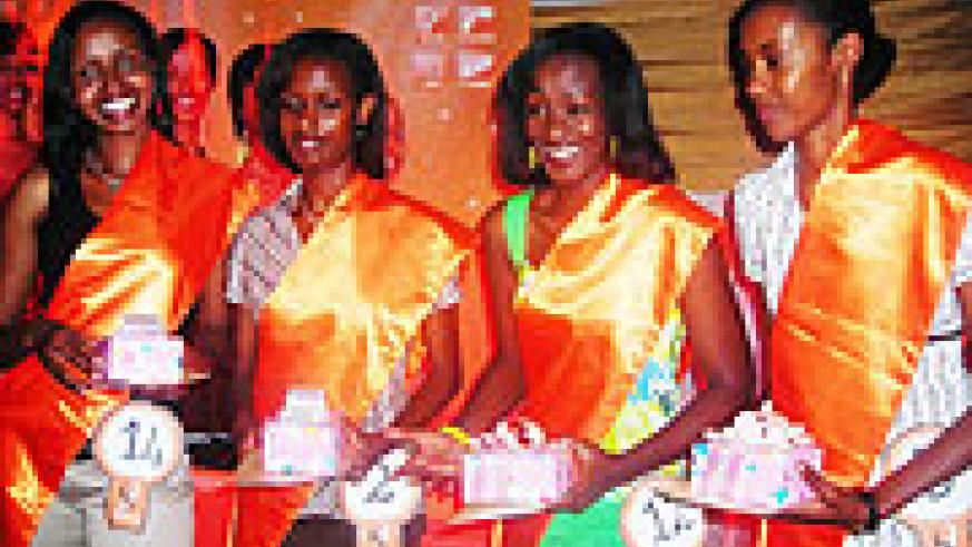 Miss Rwanda aspirants-top four from the right.