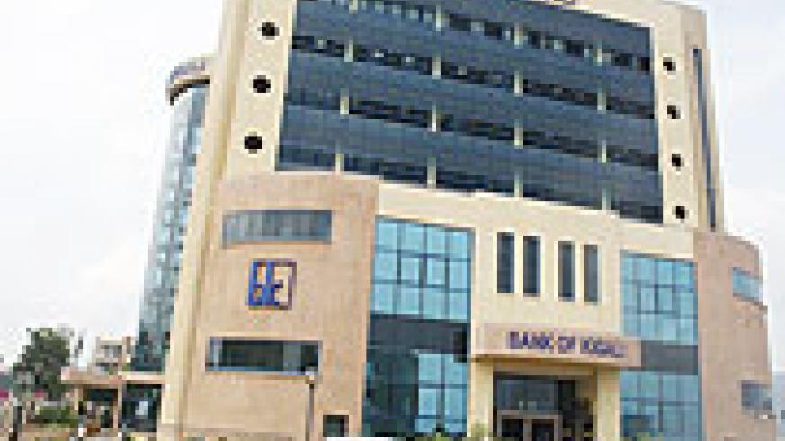 Bank of Kigali, one of the country's top perfoming bank in the first semester of 2009. (File Photo)