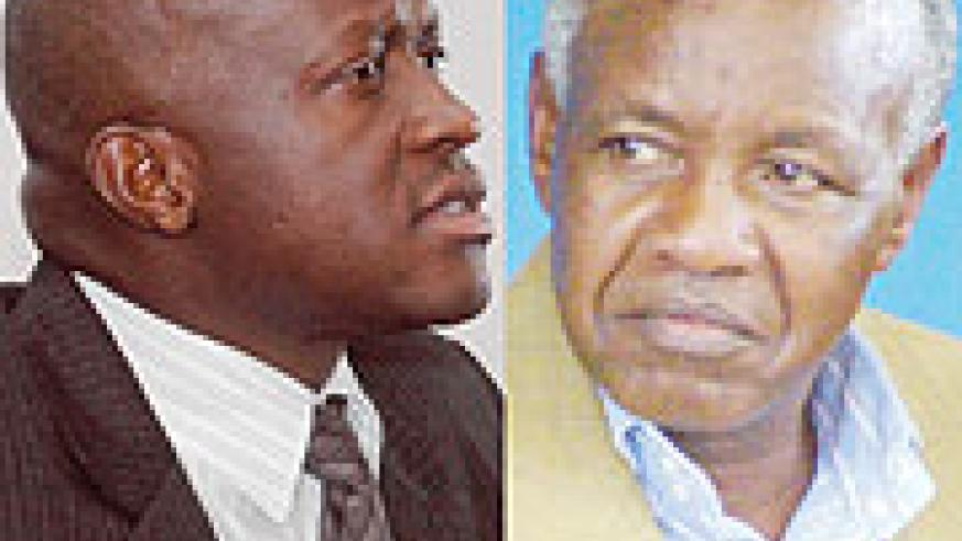The long-standing feud between RNOC boss Ignace Beraho (R) and Sports minister Joseph Habineza (L) exploded when the former was relieved of his duties two days ago.