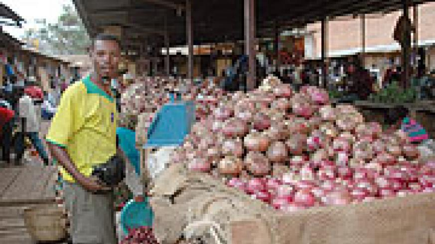 Inside Kimironko market where food prices have been unstable lately (File Photo)