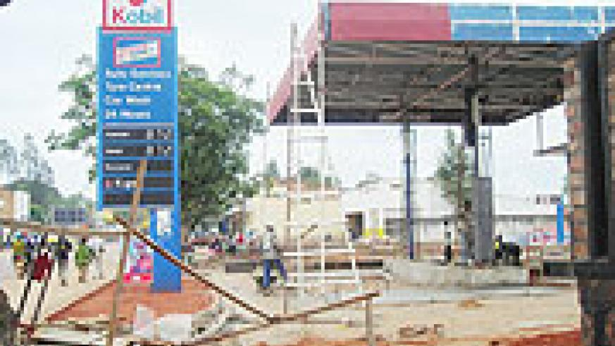 Ongoing renovation works on a petrol station in Butare town. The district has moved to change the face of one of the oldest towns in the country. (Photo: P. Ntambara)