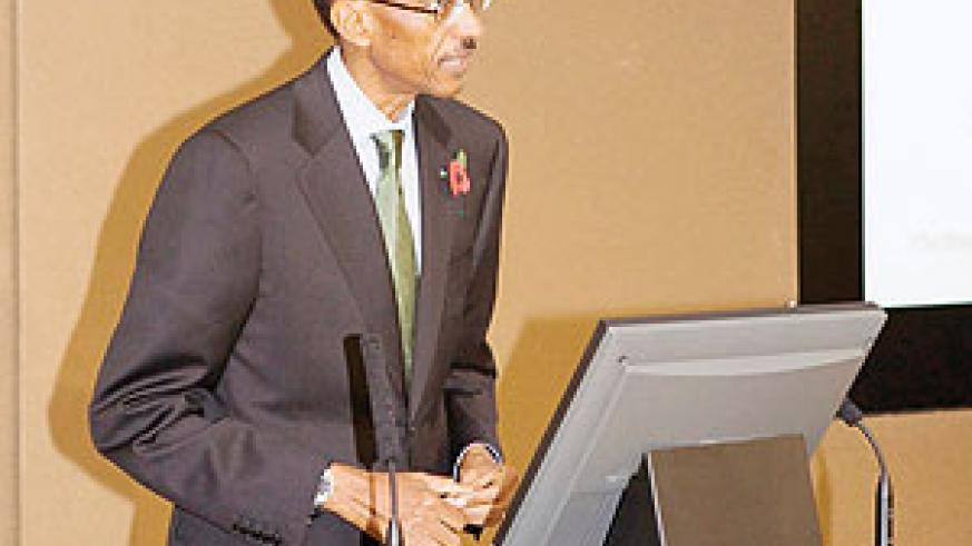 President Paul Kagame at the summit.