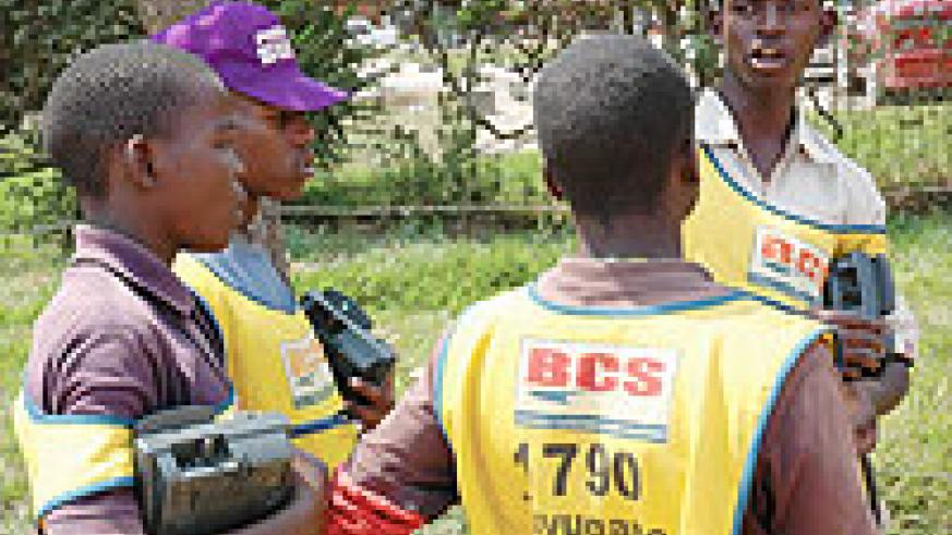 Some of MTN Rwanda airtime voucher cards vendors: Most of them blame the company as the cause for the recent hike in airtime prices. (File Photo)